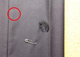 修理箇所に印をつける